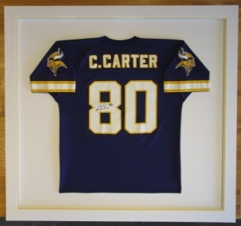Custom framed football jerseys the great frame up burnsville minnesota vikings man cave framing football sports solutioingenieria Choice Image